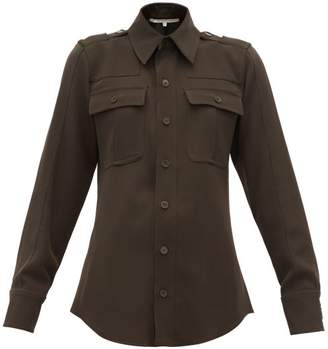 Stella McCartney Wool Twill Military Shirt - Womens - Dark Green