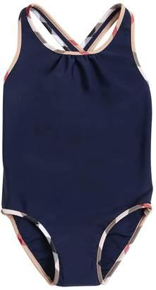 Burberry Lycra One Piece Swimsuit W/ Check Trim