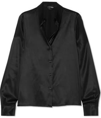 Tom Ford Silk-charmeuse Blouse - Black