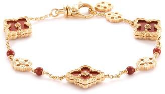Buccellati 'Opera Color' jasper 18k yellow gold station bracelet