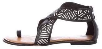Diane von Furstenberg Leather Crossover Sandals