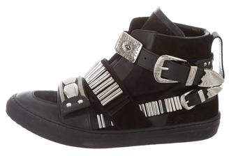 Toga Pulla Embellished High-Top Sneakers