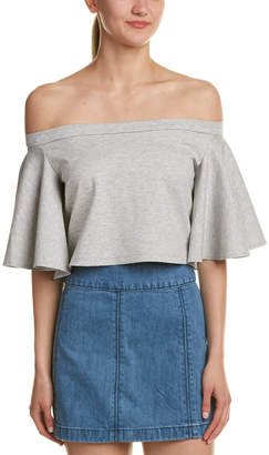 Torn By Ronny Kobo Cropped Off-The-Shoulder Top