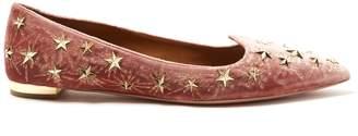 AQUAZZURA Cosmic star-embellished velvet flats $795 thestylecure.com