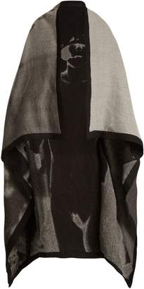 MARY MCCARTNEY Dress Up-print wool and silk-blend blanket scarf