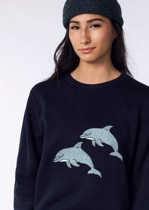 Barney Cools Dolphin Warm Knit Crew | Wildfang Dolphin Warm Knit Crew - NAVY - XSMALL