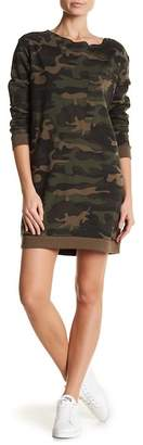 Contemporary Designer Camo Patterned French Terry Dress