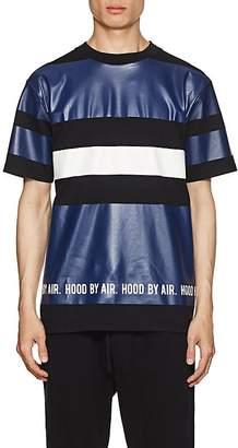 Hood by Air MEN'S LOGO STRIPED COTTON T-SHIRT