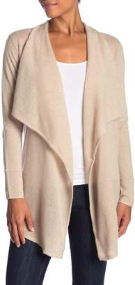 Sofia Cashmere Cashmere Open Front Waterfall Cardigan