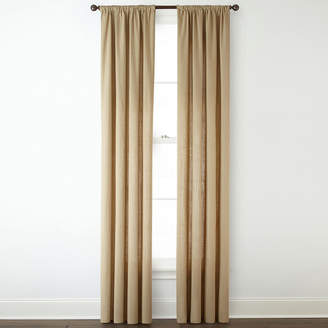Home ExpressionsTM Luka 2-Pack Customizable Length Rod-Pocket Curtain Panels