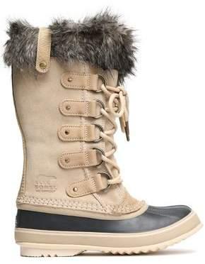 Sorel Faux Fur-Trimmed Suede Ankle Boots