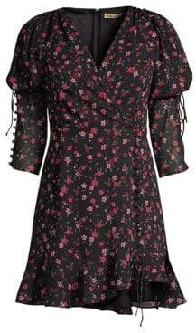 For Love & Lemons Rosie Ruffled Floral Mini Dress