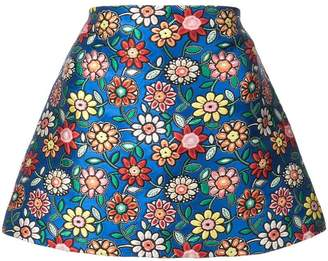 Alice + Olivia Alice+Olivia floral embroidery short skirt