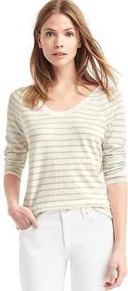Stripe scoop neck pullover $39.95 thestylecure.com