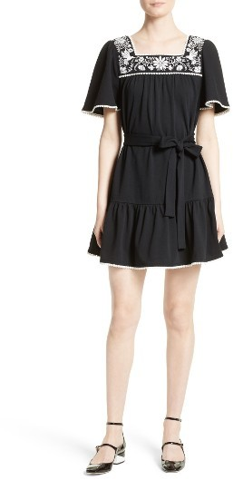 Women's Kate Spade Embroidered A-Line Dress