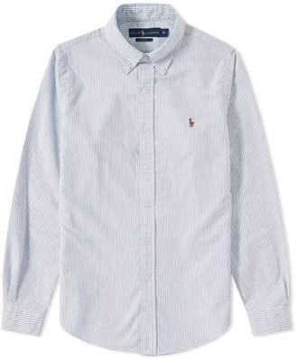 Polo Ralph Lauren Slim Fit Button Down Stripe Oxford Shirt