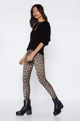 Nasty Gal Meow You Doing Leopard Leggings