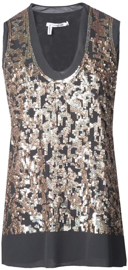Derek Lam 10 Crosby sequin top
