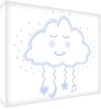 Keepsake Feel Good Art Block – Decorative Baby's, Design Dream Cloud Medio - 10.5 x 15 x 2 cm Azul pálido