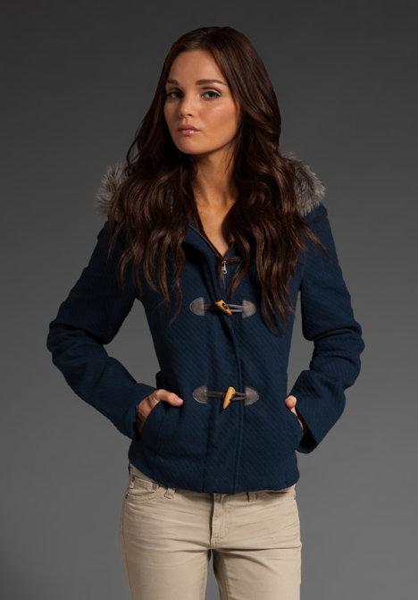 BB Dakota Tammy Toggle Jacket with Faux Fur Collar