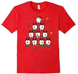 Funny Teeths Christmas Tree for Dental Assistant Gift Shirt