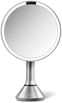 """Simplehuman 8"""" Sensor Makeup Mirror with Brightness Control, Brushed Stainless Steel"""