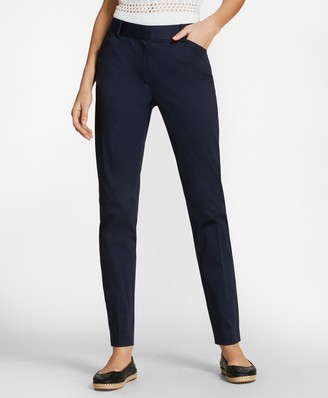 Brooks Brothers Stretch Cotton Sateen Ankle Pants