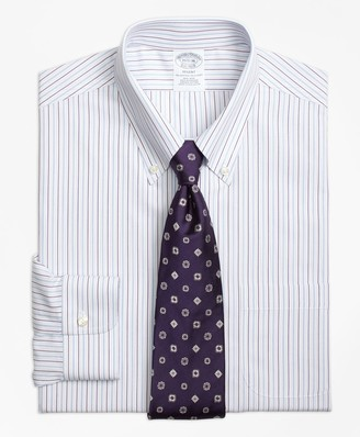 Brooks Brothers Regent Fitted Dress Shirt, Non-Iron End-on-End Stripe