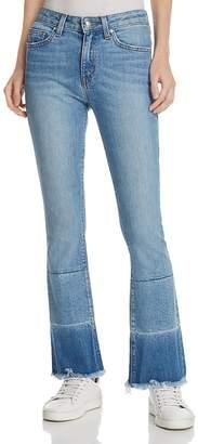 Derek Lam 10 Crosby Jane Mid-Rise Flip-Flop Jeans in Light Wash