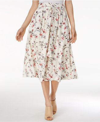 J.O.A. Floral-Print Midi Skirt $95 thestylecure.com