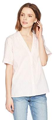 Stateside Women's Short Sleeve Oxford Shirt