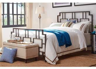 Weston Home Block Headboard and Footboard Metal Bed, Multiple Sizes