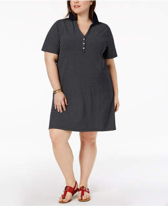 Tommy Hilfiger Plus Size Printed Polo Shirtdress, Created for Macy's
