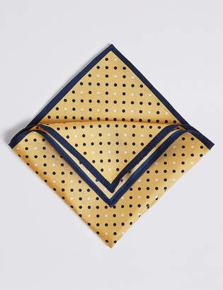 M&S CollectionMarks and Spencer Pure Silk Spotted Pocket Square