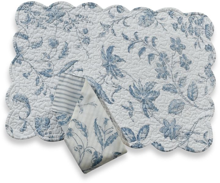 Brighton Blue Quilted Placemat and Napkin