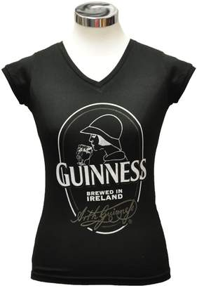 Guinness Ladies Woman on Label T-shirt (XSmall)