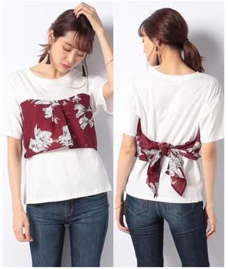 DAISY MERRY (デイジー メリー) - DAISY MERRY 大花バックリボンビスチェTシャツ