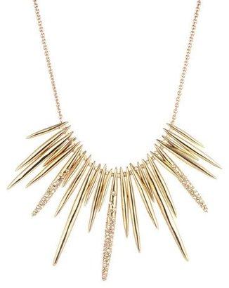 Alexis Bittar Golden Crystal Spike Bib Necklace $245 thestylecure.com