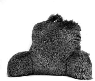 Mainstays Long Hair Faux Fur Backrest Pillow, Silver