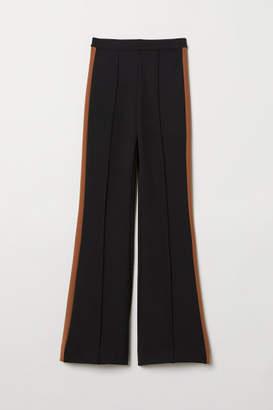 H&M Wide-leg Pants - Black