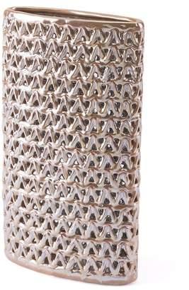 ZUO Modern Pearl/Yellow Chevron Medium Vase