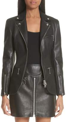 Alexander Wang Zip Front Leather Blazer
