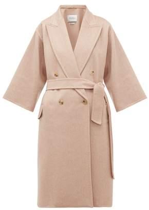 Max Mara Risorsa Wrap Coat - Womens - Light Pink