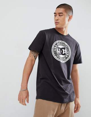 DC T-Shirt with Chest Logo Print in Black