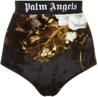 Palm Angels Chenille Logo Tape Panties All Over