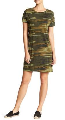 Alternative Short Sleeve Camo Print T-Shirt Dress