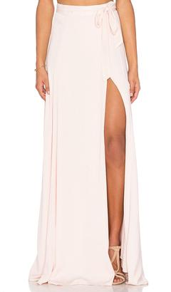 KENDALL + KYLIE Maxi Wrap Skirt $168 thestylecure.com