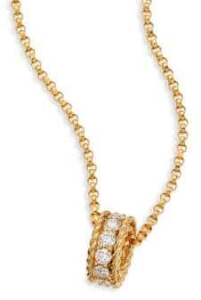 Roberto Coin Symphony Braided Diamond& 18K Yellow Gold Pendant Necklace