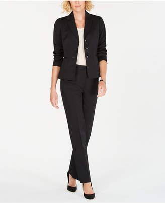 Le Suit Three-Button Striped Pantsuit
