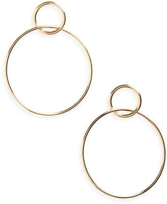 Halogen r Double Circle Drop Earrings